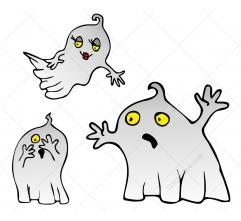 Halloween Ghosts vector pack