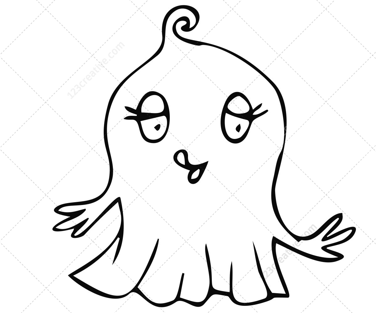 Ghost vector pack - contains cartoon vectors, perfect for ...