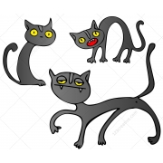 cartoon cat vectors