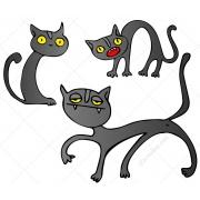 cartoon cat vectors