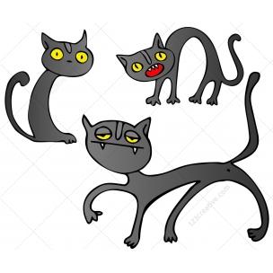 Halloween Cats vector pack