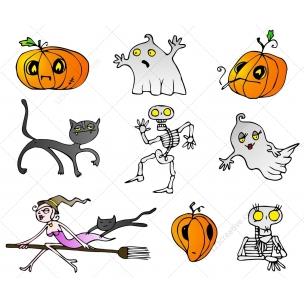 Halloween Mix vector pack