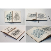 Sketch Book Mockups, professional preview of your drawing, illustration,sketch