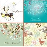 christmas vectors, reindeer vector, christmas card vectors