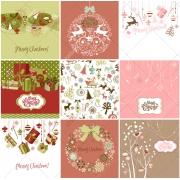 decorative christmas vectors, christmas ball, reindeer, gifts, cards