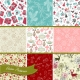 christmas retro wrapping paper vector patterns