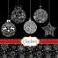 Decorative ornamental christmas balls background