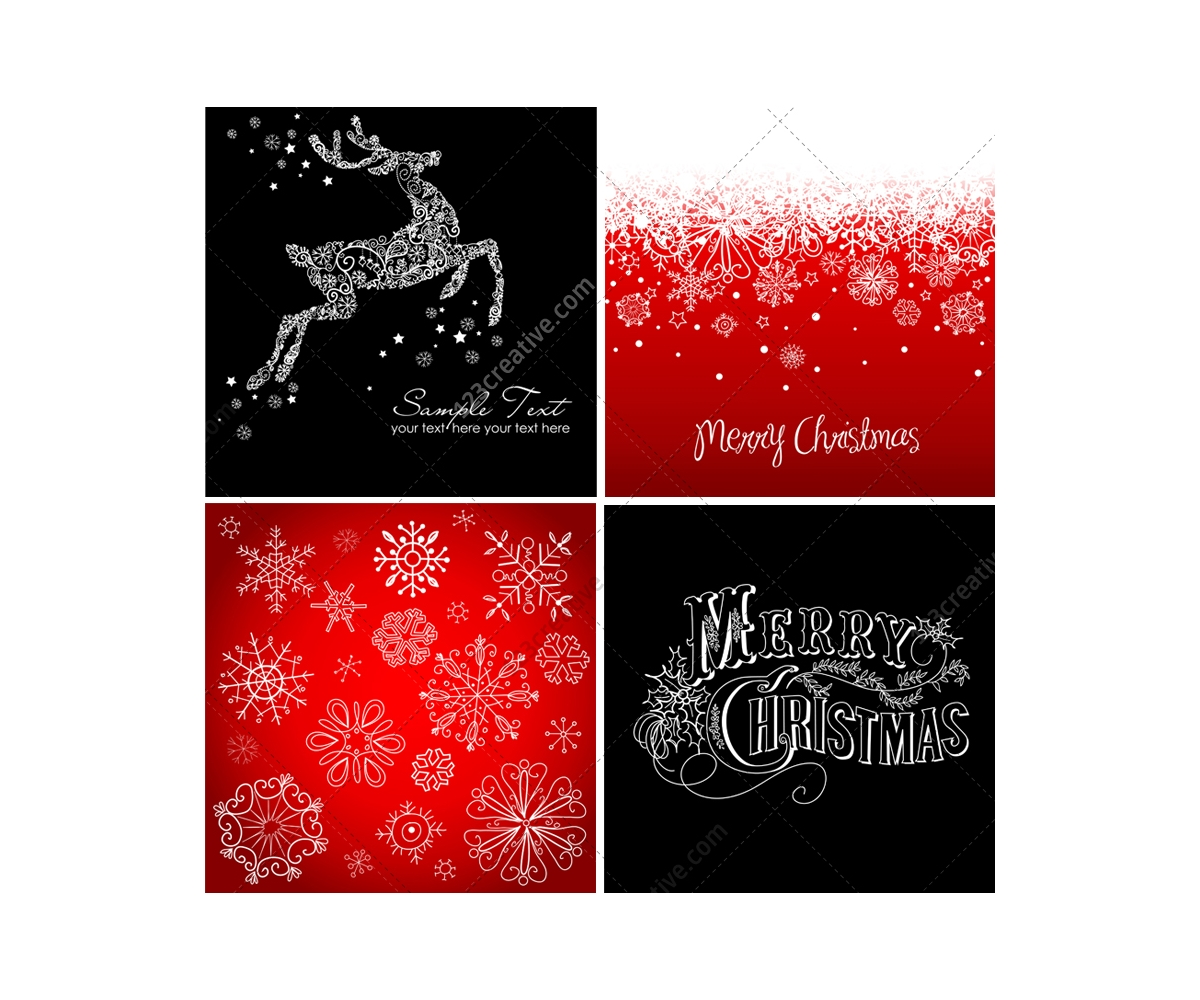Christmas Cards And Backgrounds Vectors