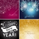 Christmas vector backgrounds, Happy new year, vector card
