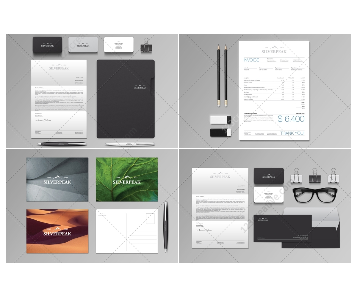 Stationery Set Invoice professional graphic template invoice – Invoice Letterhead