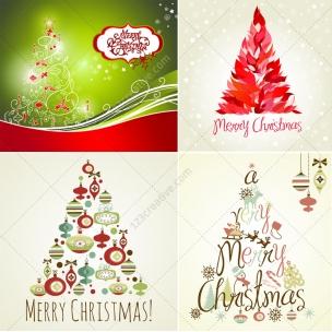 42 Christmas tree vector collection