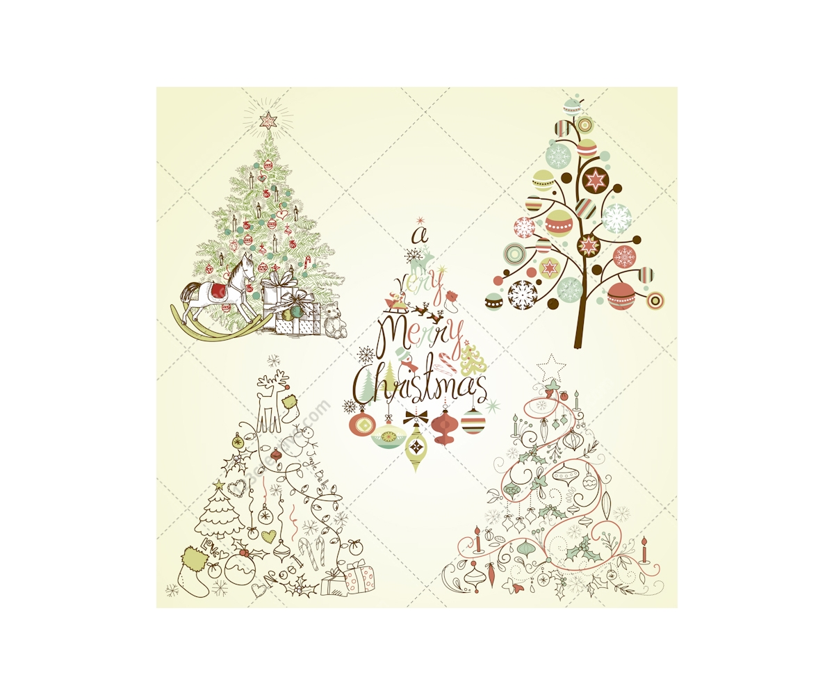 Christmas tree collection orangeville : Christmas tree vector collection buy pack full of