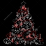 Black ornamental Christmas tree vector