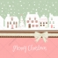 Romantic winter town landscape Christmas vector