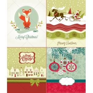 Mega Pack - 46 Nice Christmas card vectors