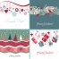 Nice Merry Christmas card vectors, decorations, presents