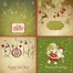 Nice green Christmas and winter cards vectors