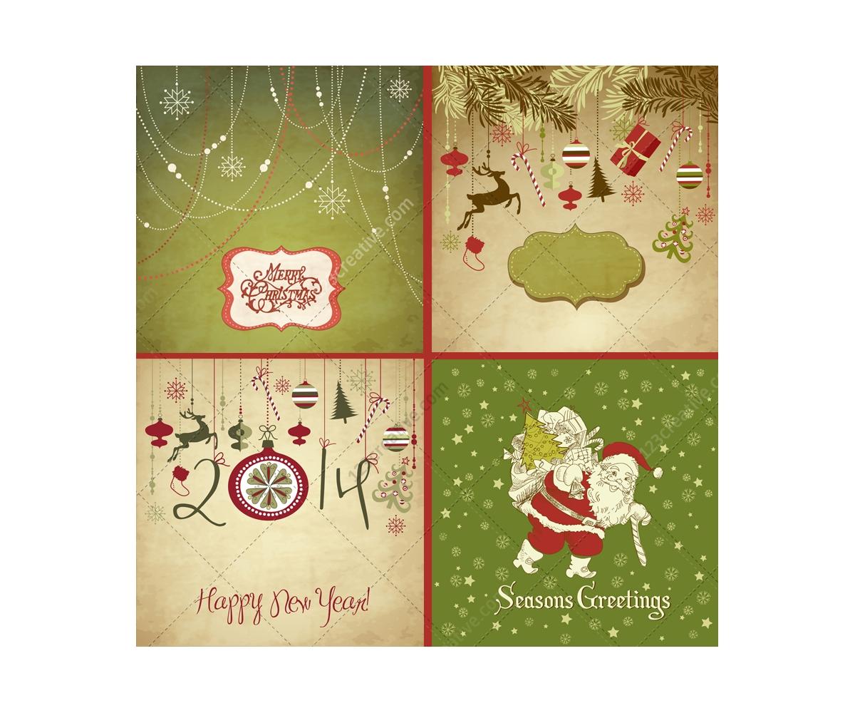 Retro Style Christmas Cards