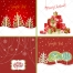 Nice red Christmas and winter cards vectors