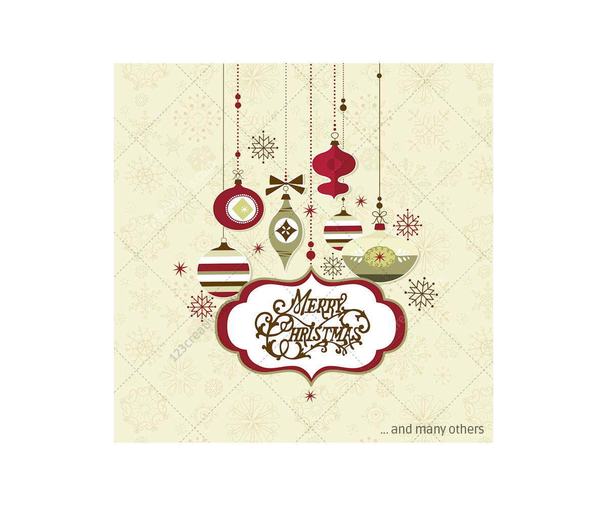 Retro Christmas vector pack - many vectors for beautiful holidays. Many motiv...