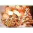 Gingerbread decoration for Christmas card