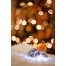 Christmas ball background with bokeh lights