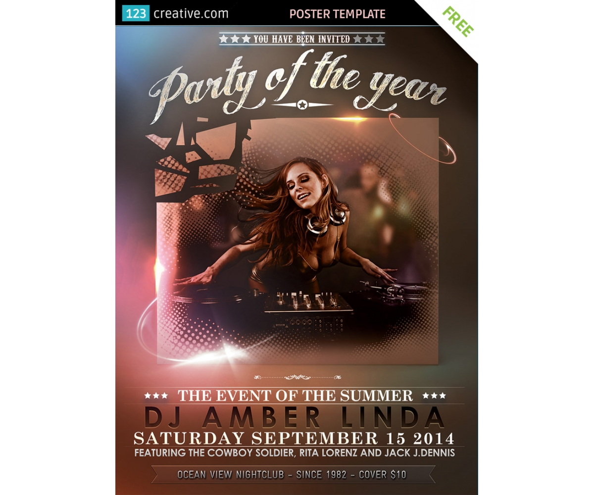 Classy event poster template free download for party event event poster template free download party flyer free download download event flyer template saigontimesfo