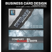 Bokeh business card design for artist, writer, musician, designer