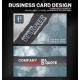 Bokeh business card design for artist, writer, musician, designer