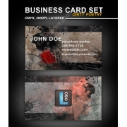 Dirty Grunge Business card design, print template