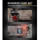 Dirty Grunge Business card design, print template