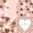 Valentine cards and patterns with hearts in soft vintage colours