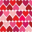 Valentine pattern with hearts in measured style
