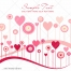 Valentine card greeting with hearts in pink tones vector