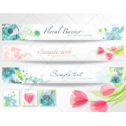 Spring floral vector banners