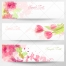 Pink Spring and floral banners