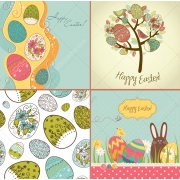 Happy Easter vectors, stock images, patterns, cards