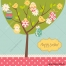 Easter card vector template