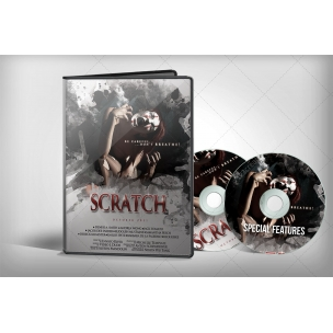 DVD cover Mockup with 1 and 2 discs