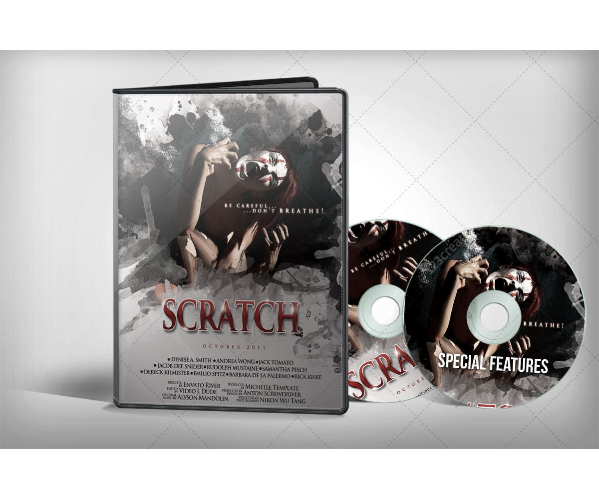 dvd cover mockup with 1 and 2 discs product preview for eshop with