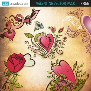 FREE Valentine vector pack