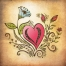free floral heart illustration