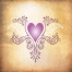 free ornamental heart vector for tattoo