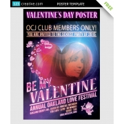 free Valentine day poster template, download free valentines poster