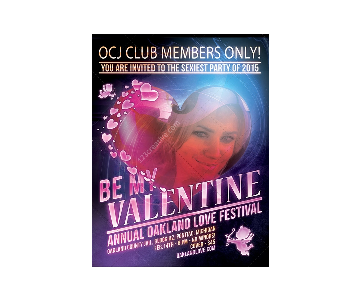 Free Valentine S Day Poster Template For Dance Club Or Valentine