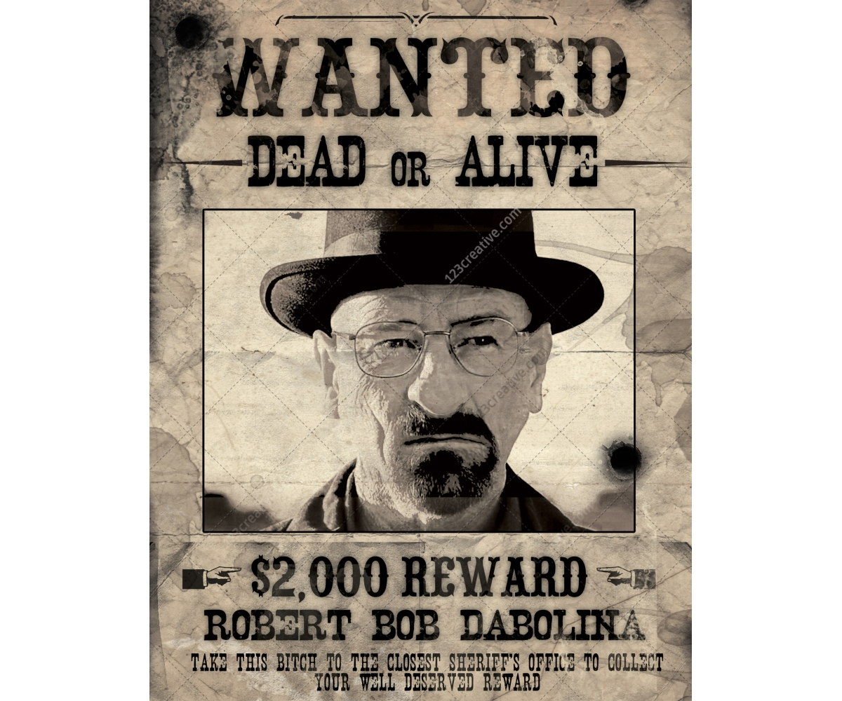 Most wanted poster template - printable flyer, dirty, grunge ...