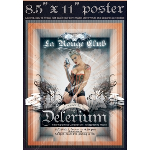 Club poster template - Delerium