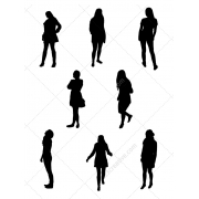 Ladies vector silhouettes, famale silhouettes