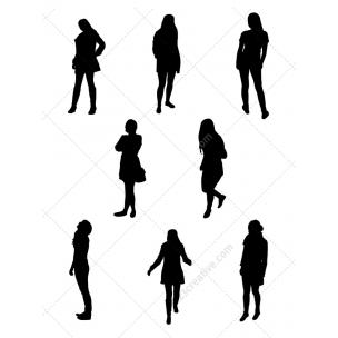 Ladies vector silhouettes