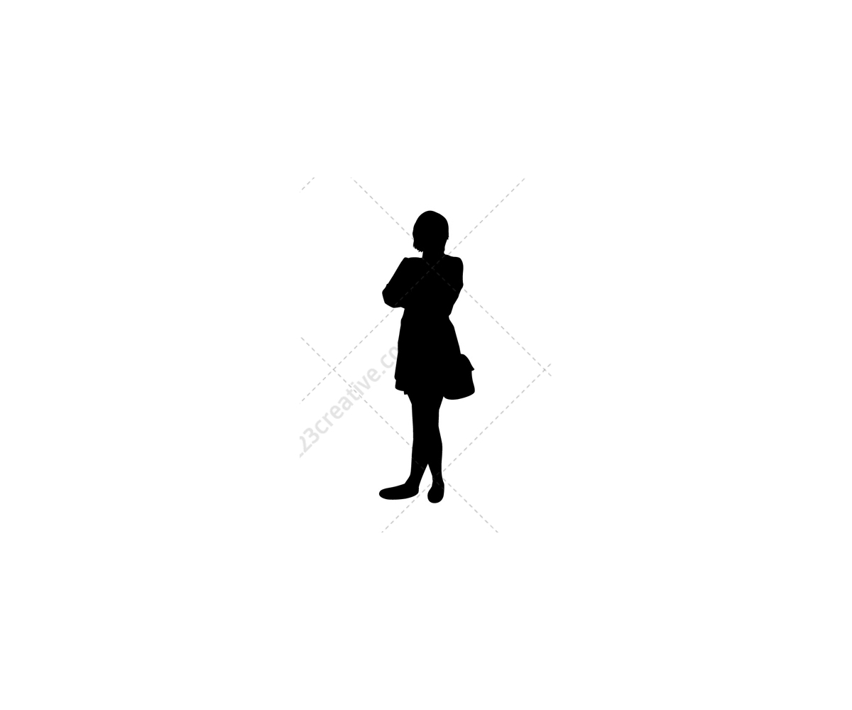 ladies vector silhouettes female vector pack contains